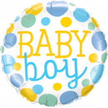 "Baby Boy Dots Foil Balloon (18"") 1pc"